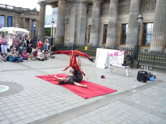 Very Flexible Street Performers