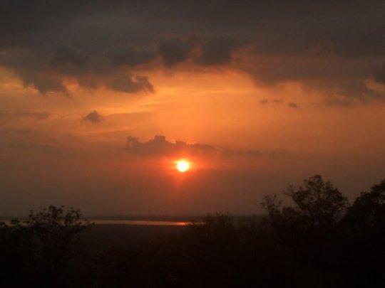A stunning sunset at Angkor Wat