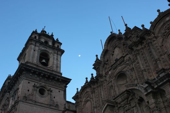 Nightfall in the old city of Cusco